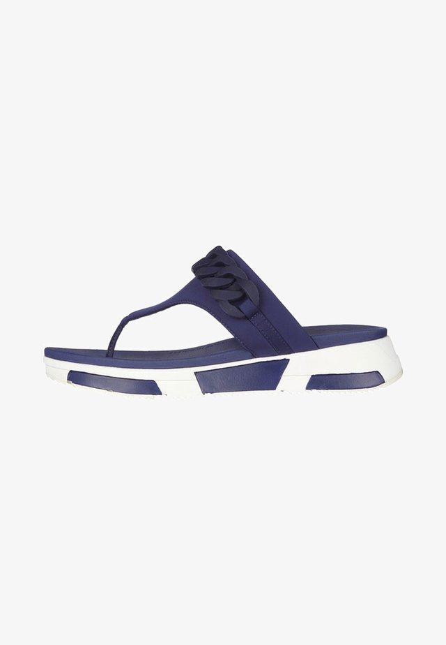 HEDA - T-bar sandals - midnight navy