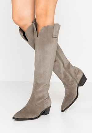 EVE - Cowboy/Biker boots - pebble