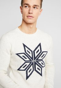 TOM TAILOR - COSY NEP SWEATER - Jumper - offwhite - 4
