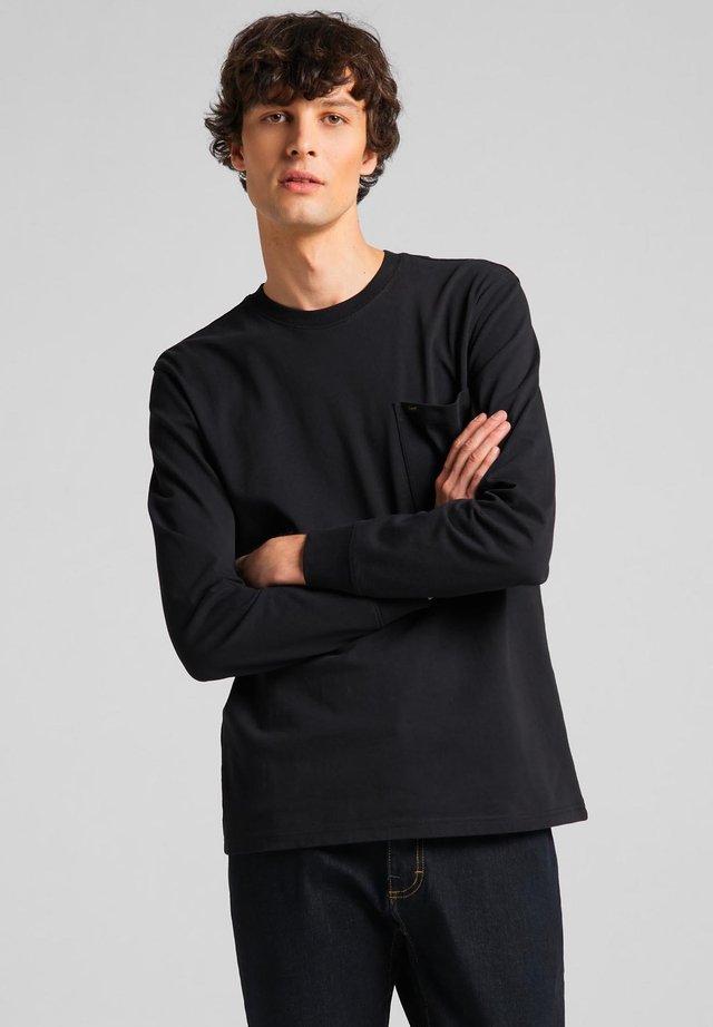 POCKET - T-shirt à manches longues - black