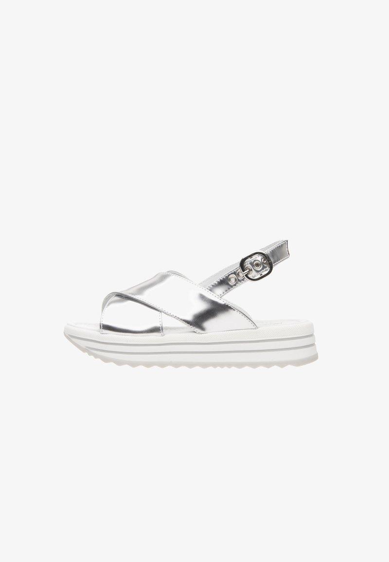 NeroGiardini - Platform sandals - argento