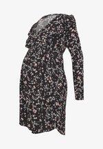MATERNITY CROSS FRONT BABYDOLL DRESS - Sukienka letnia - millie black
