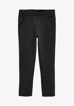 BLACK FRILL DETAIL TROUSERS (3-16YRS) - Tracksuit bottoms - black