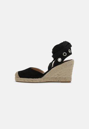 AMANDE - Wedge sandals - noir