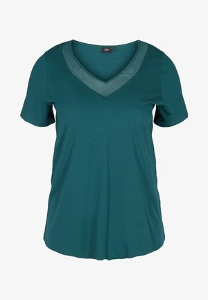 MIT V-AUSSCHNITT UND MESH - Print T-shirt - ponderosa pine