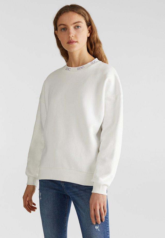 SWEATSHIRT MIT LOGO-BÜNDCHEN - Sweatshirt - off white
