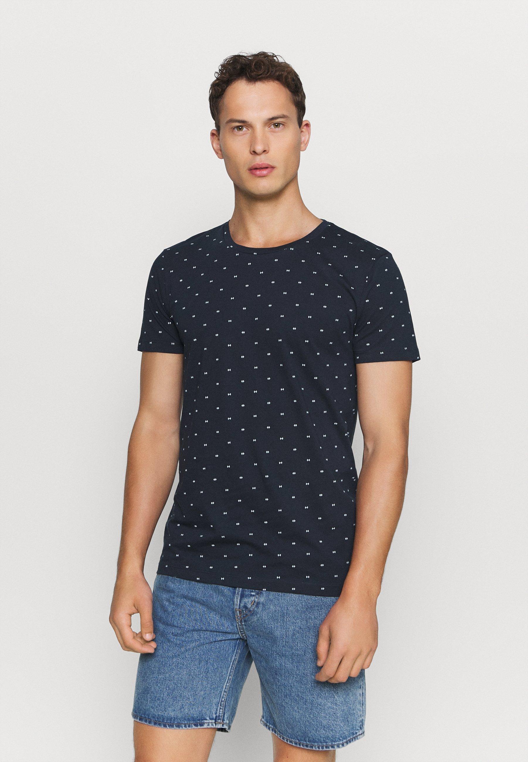 Men Print T-shirt - navy