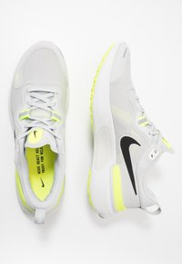 Nike Performance - REACT MILER - Neutral running shoes - grey fog/black/particle grey/volt - 1