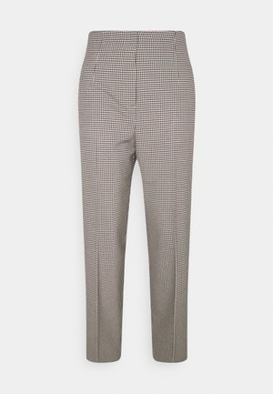 CHECK PANTS - Trousers - beige