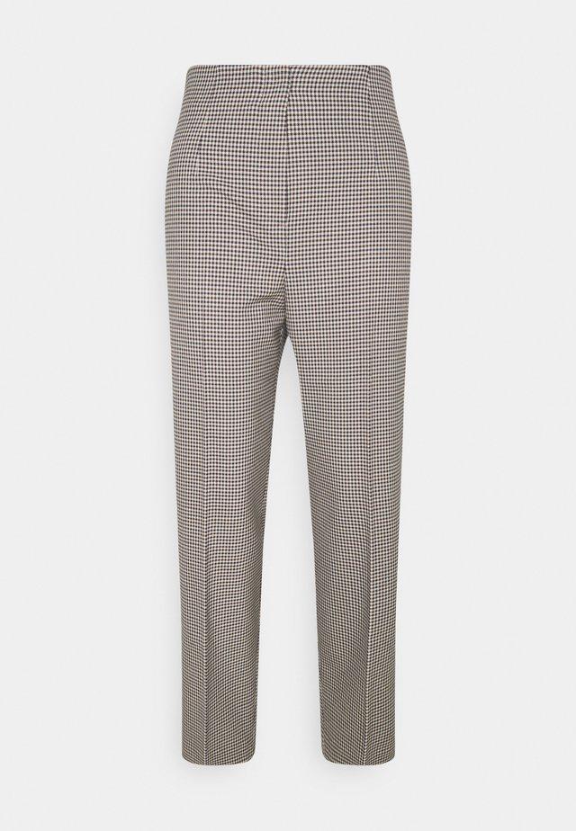 CHECK PANTS - Pantaloni - beige