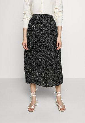 SQUIGGLE PRINT PLEAT MIDI SKIRT - A-line skirt - black
