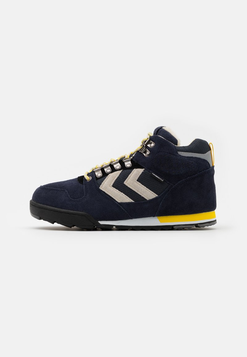 Hummel - NORDIC ROOTS FOREST MID UNISEX - Sneakersy wysokie - dress blue