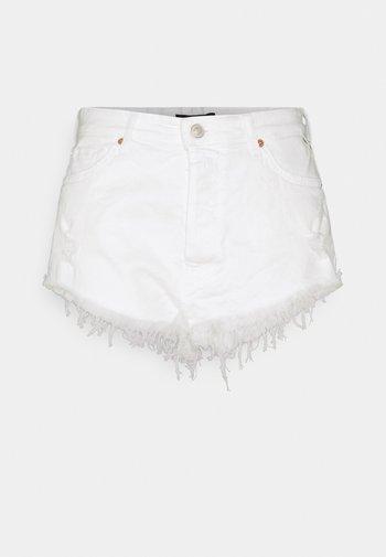 Short en jean - optical white