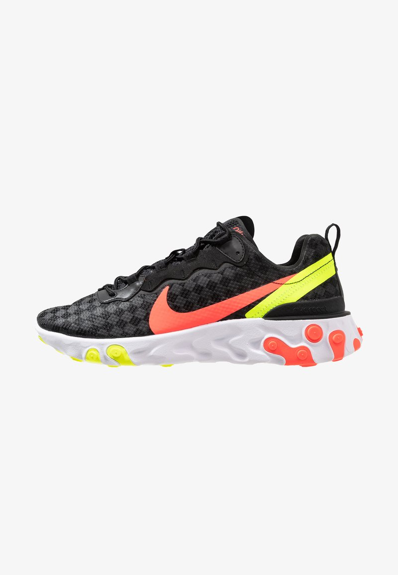 Nike Sportswear - REACT ELEMENT 55 - Trainers - black/flash crimson/hyper crimson/volt/white