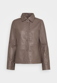 Selected Femme - SLFMOON - Leather jacket - fossil - 0