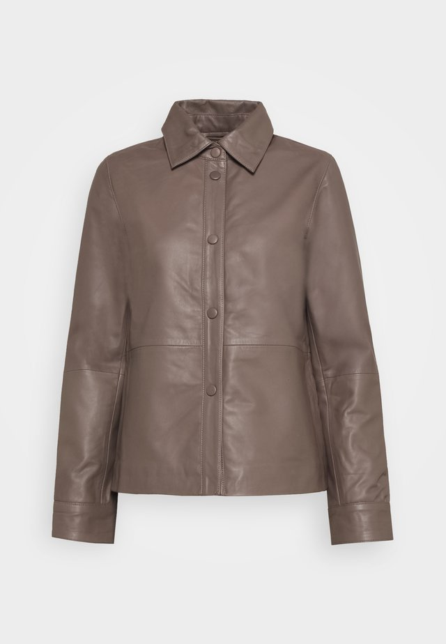 SLFMOON - Leather jacket - fossil