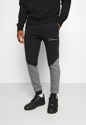 CONTRAST JOGGER WITH TAPING - Verryttelyhousut - black