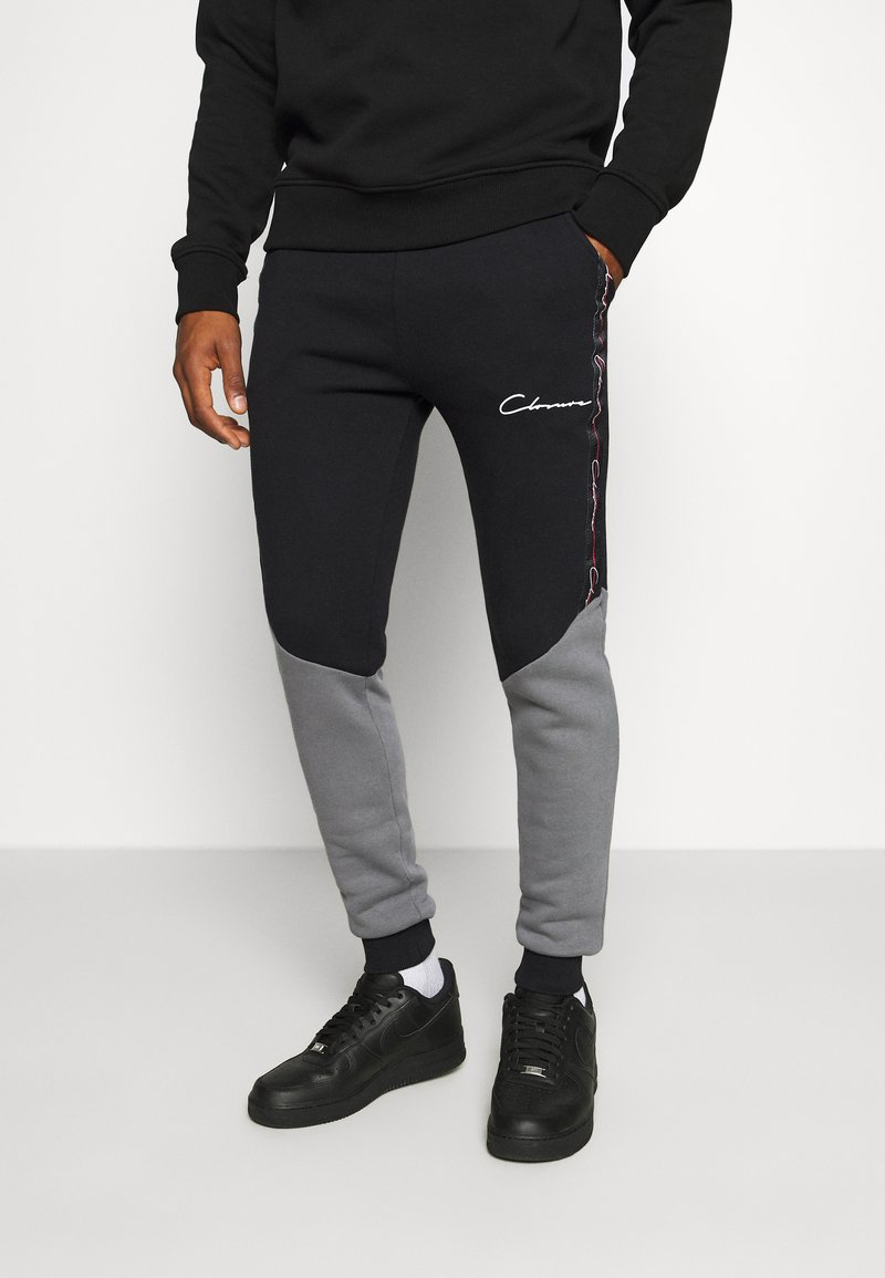 CLOSURE London - CONTRAST JOGGER WITH TAPING - Pantalon de survêtement - black