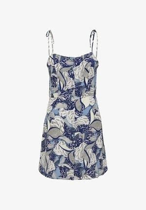 PRINT - Day dress - faded denim