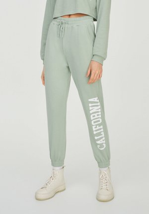 Tracksuit bottoms - light green