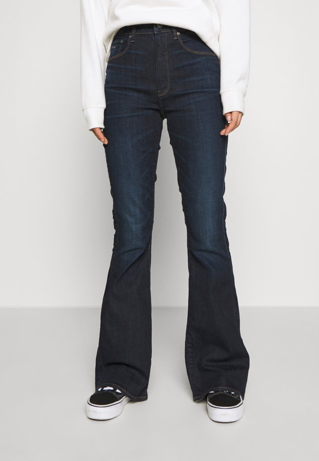 3301 HIGH FLARE - Flared jeans - worn in deep lake