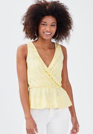 Débardeur - jaune pastel