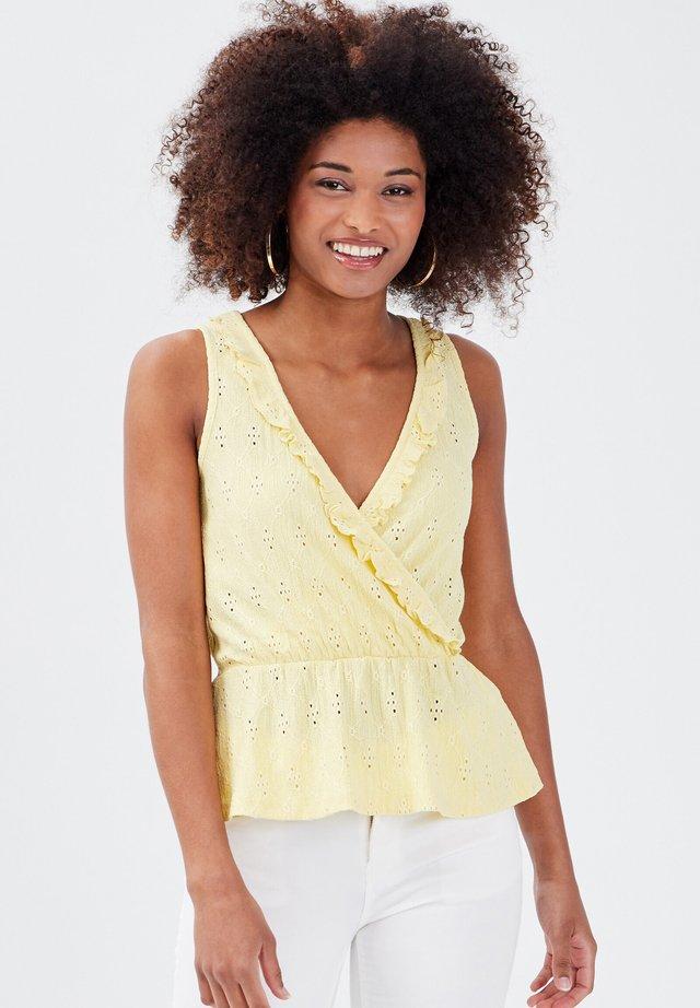Top - jaune pastel