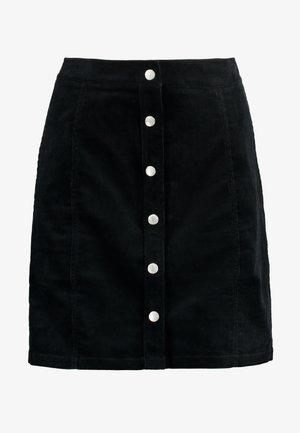 BUTTON DOWN SKIRT - A-line skirt - black