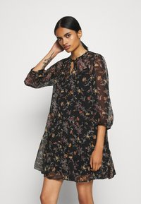 Vero Moda - VMWONDA TUNIC - Day dress - black/tini - 0