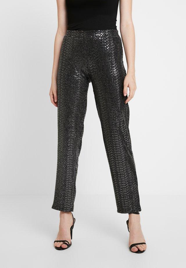 Leggings - Trousers - black/silver
