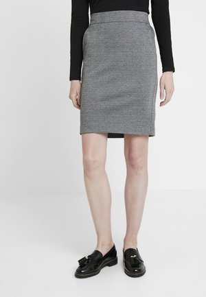 BETH - Pencil skirt - grey melange combi