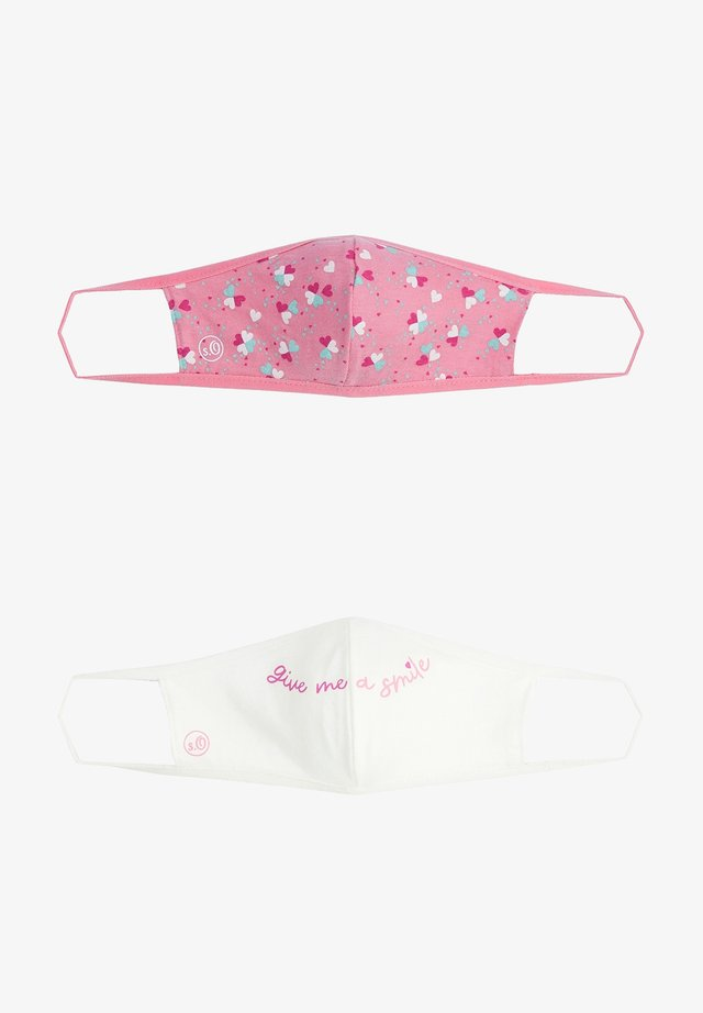 2 PACK - Community mask - white statement/pink hearts