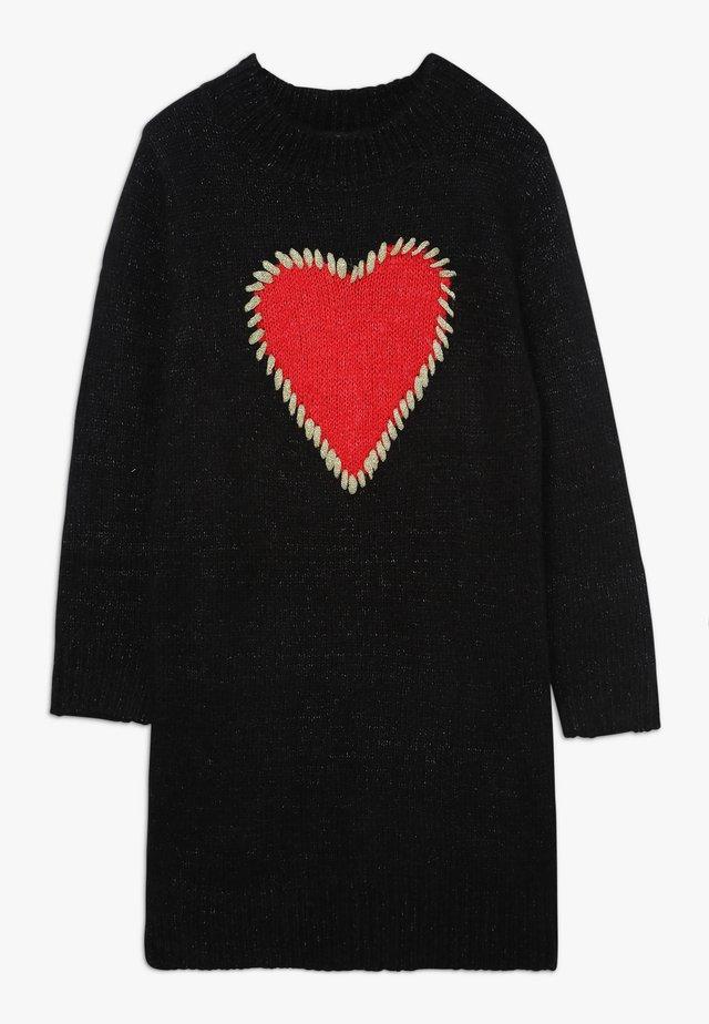 GIRLS KNITTED DRESS - Jumper dress - ash black