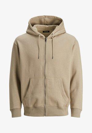 JJESOFT ZIP HOOD - Zip-up hoodie - beige
