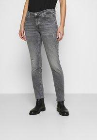 Marc O'Polo DENIM - ALVA REGULAR - Slim fit jeans - multi/pigeon mid grey - 0