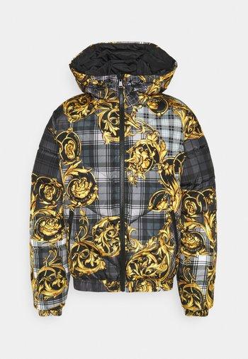 TARTAN BAROQUE - Down jacket - grigio/oro