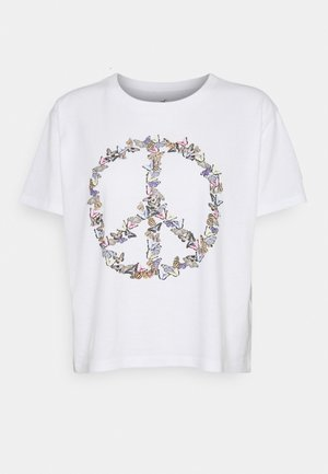 GRAPHIC EARTH DAY TEE - T-shirt con stampa - white