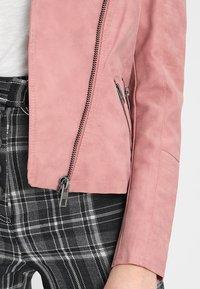 ONLY - ONLAVA BIKER  - Faux leather jacket - ash rose - 5