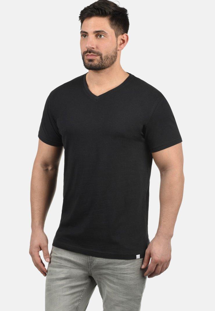 Solid - V-SHIRT BEDO - Basic T-shirt - black