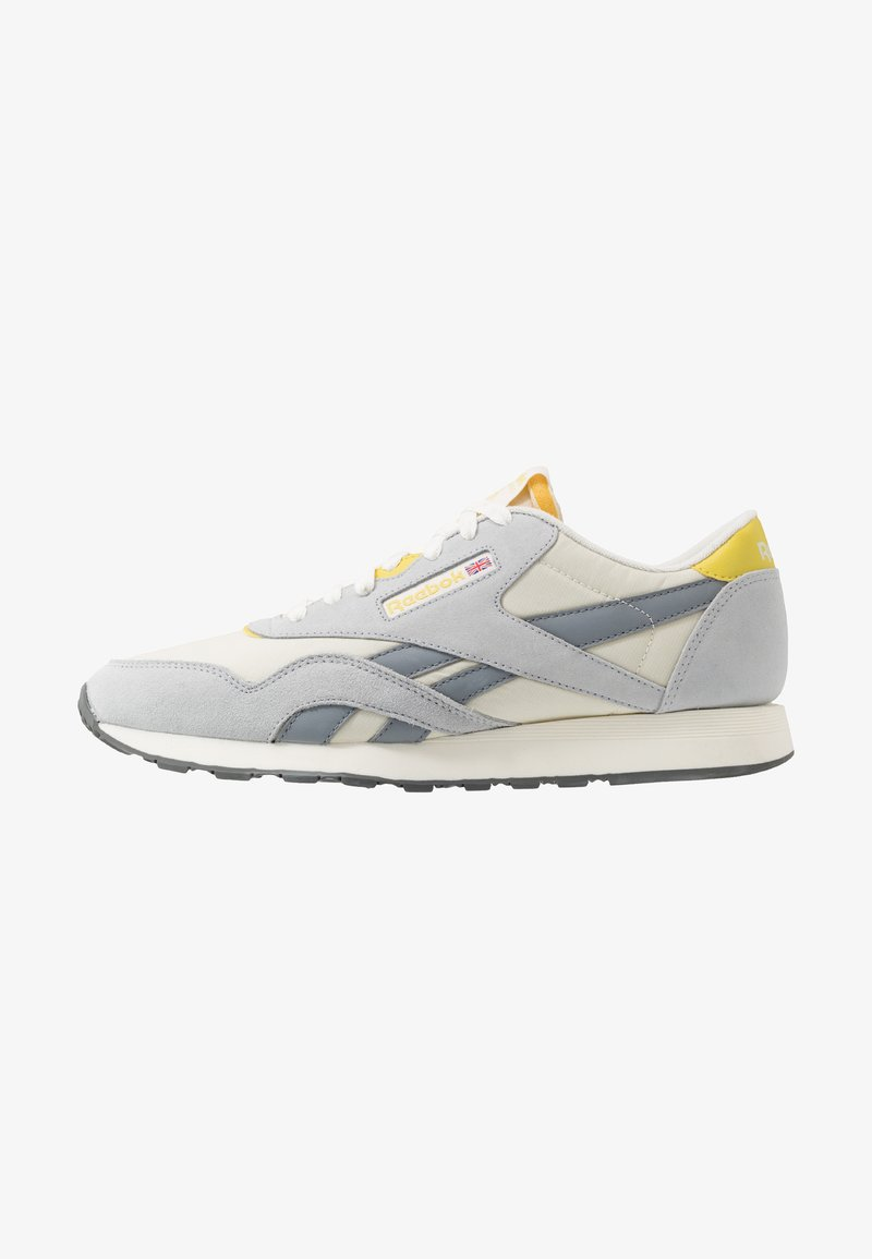 Reebok Classic - Trainers - chalk/cold grey/utility yellow