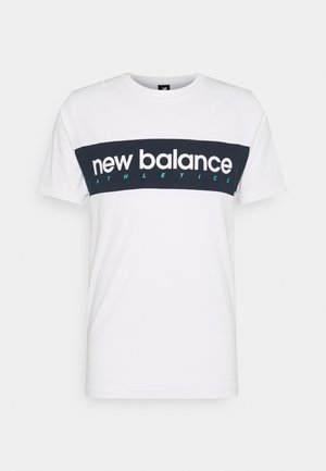 ATHLETICS LINEAR TEE - Camiseta estampada - white