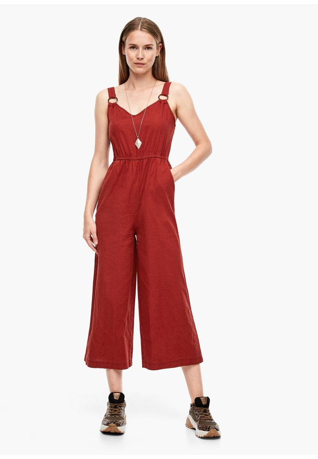 Jumpsuit - rust red