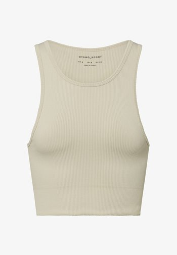 Light support sports bra - beige