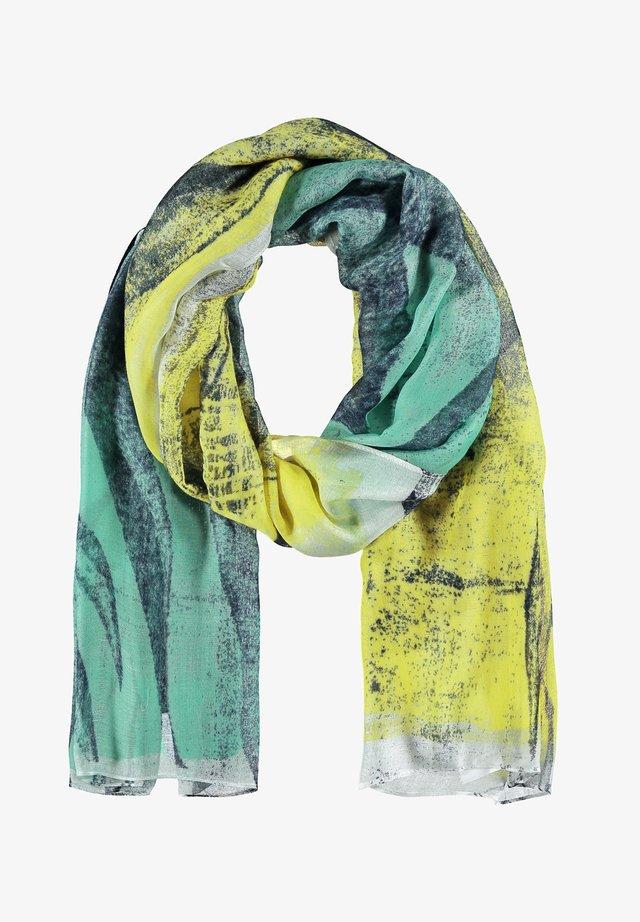 Sjaal - grün/blau druck