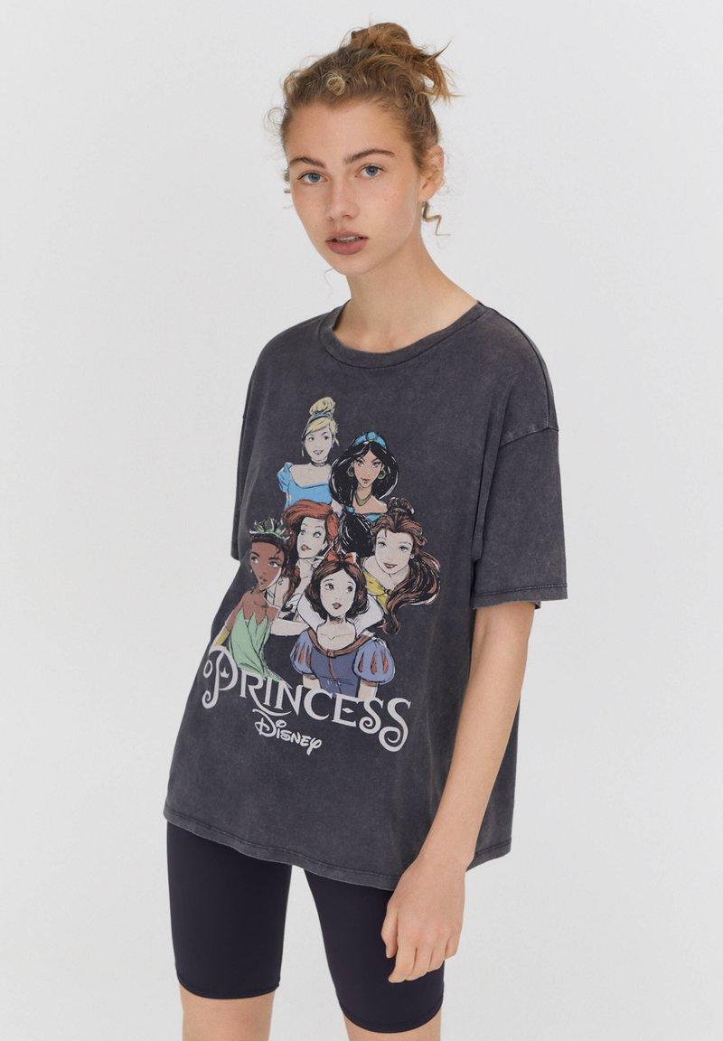 PULL&BEAR - DISNEY - Print T-shirt - black