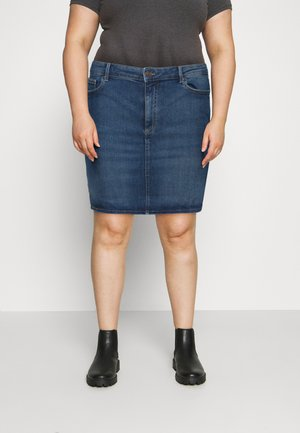 PCLILI SKIRT - Mini skirt - medium blue denim