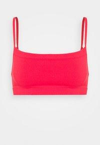 Cotton On Body - SEAMFREE STRAIGHT NECK CROP 2 PACK - Bustier - mint chip/fiesta red - 3