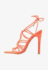 Public Desire - SAVY - Sandály na vysokém podpatku - orange - 1