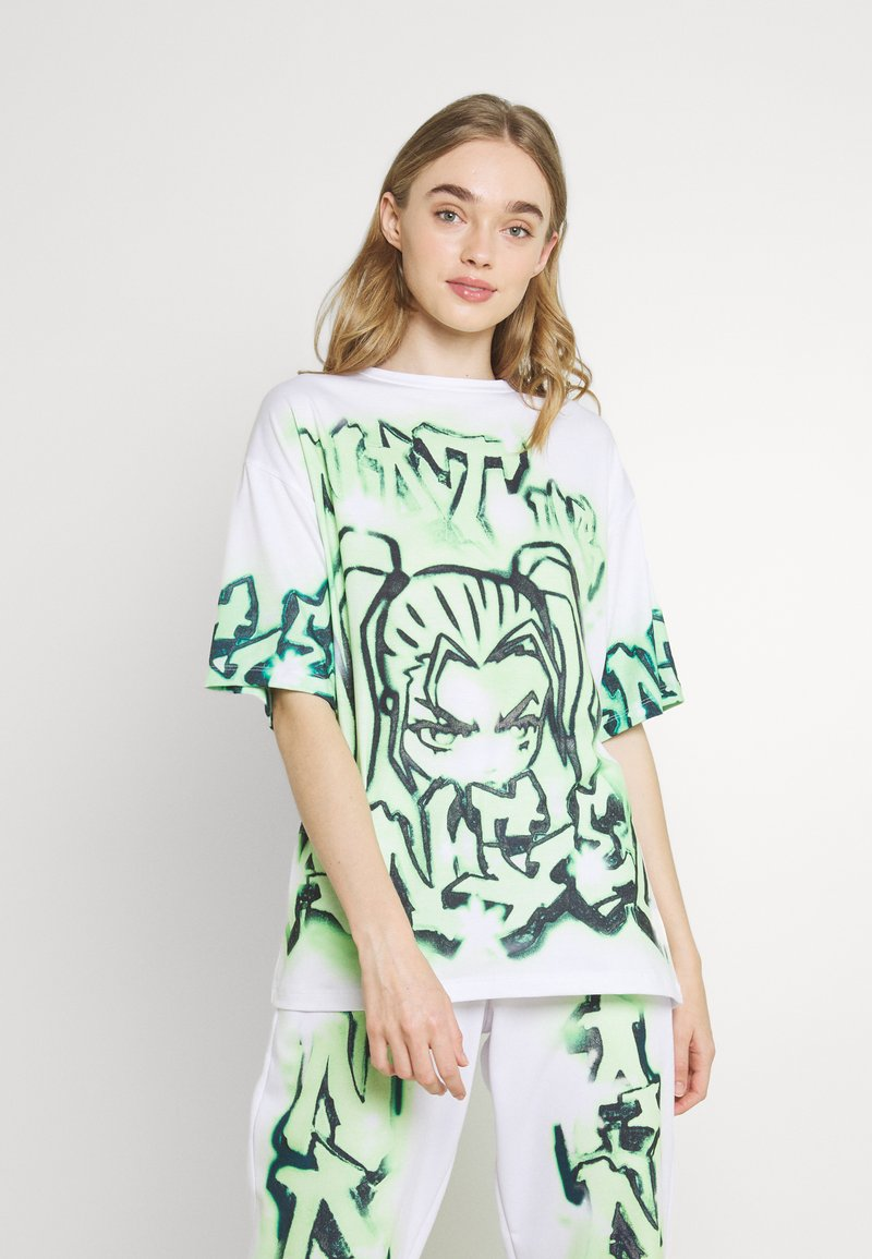 Jaded London - NOT YOUR - T-shirts med print - green