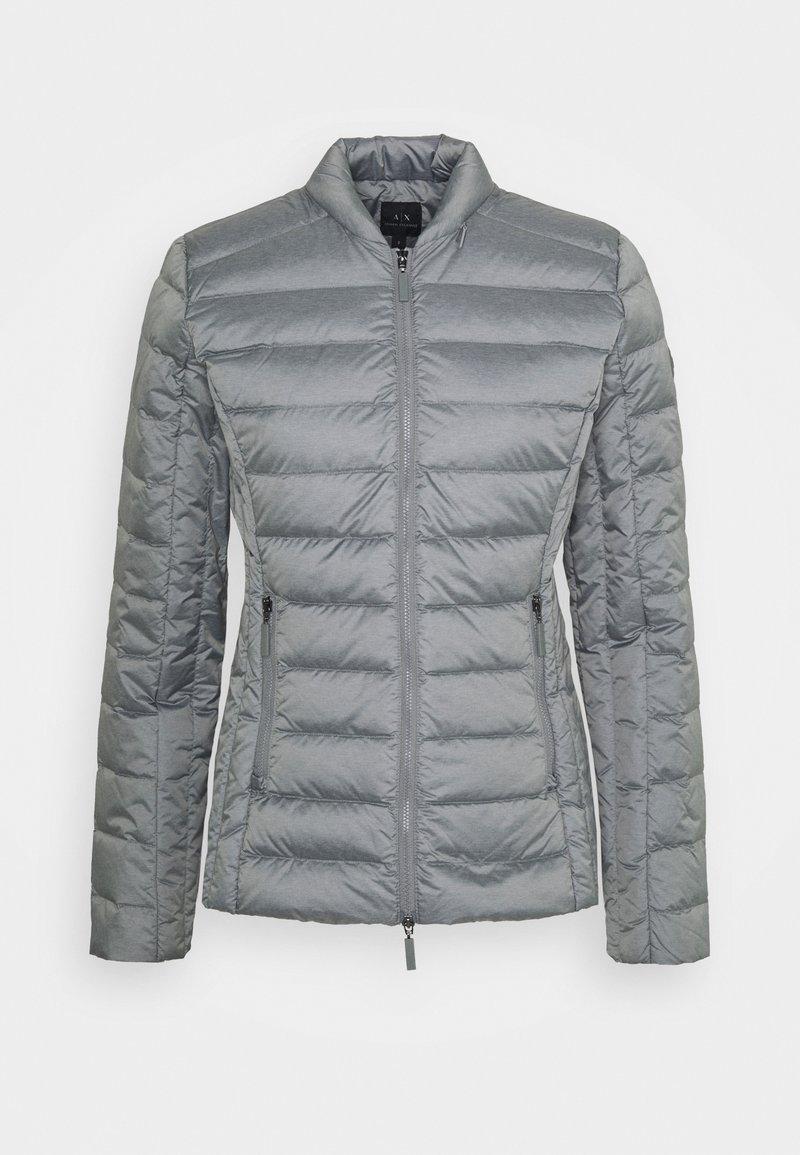 Armani Exchange - GIACCA PIUMINO LIGHT WEIGHT - Down jacket - heather grey